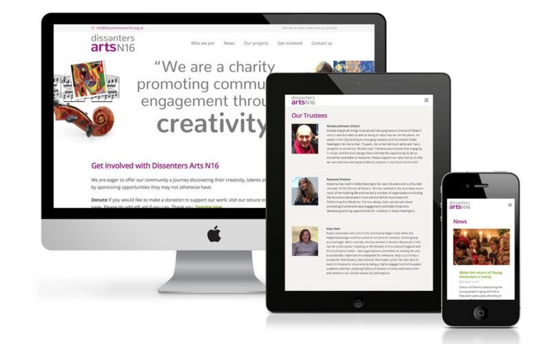 Dissenters Arts N16 Website