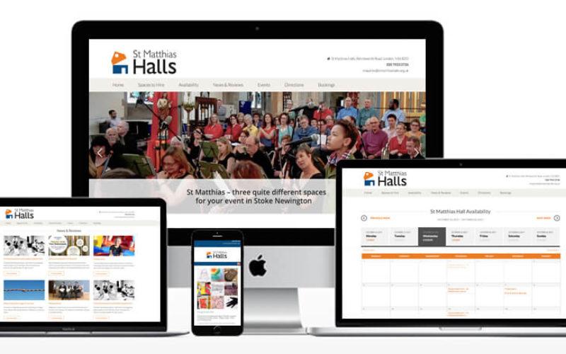St Matthias Halls Website